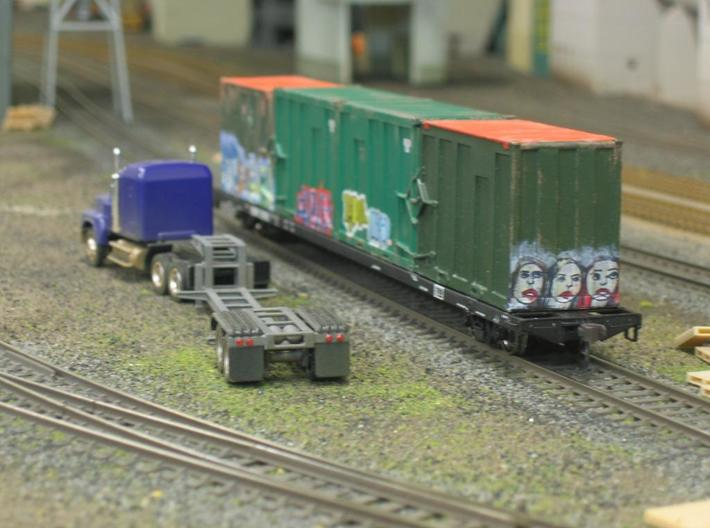 HO 1/87 MSW Trash Train Lowboy road trailer (WD83XC86X) by ...