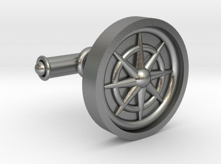 Compass Cufflink 3d printed