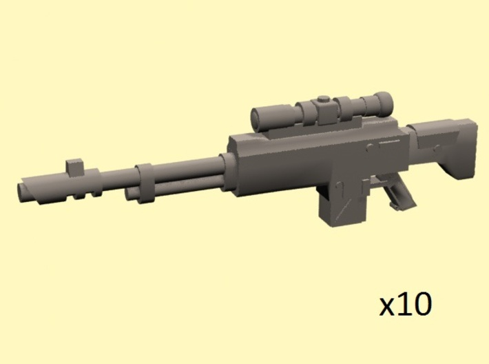 28mm SciFi SK-12 Sniper Rifle 3d printed
