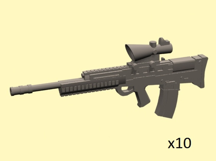 28mm scale L85 assault rifle 3d printed