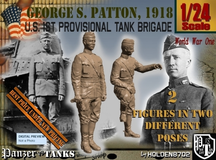 1-24 George S Patton 1918 3d printed