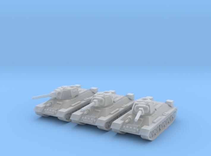 1/160  T-34 tanks 3d printed