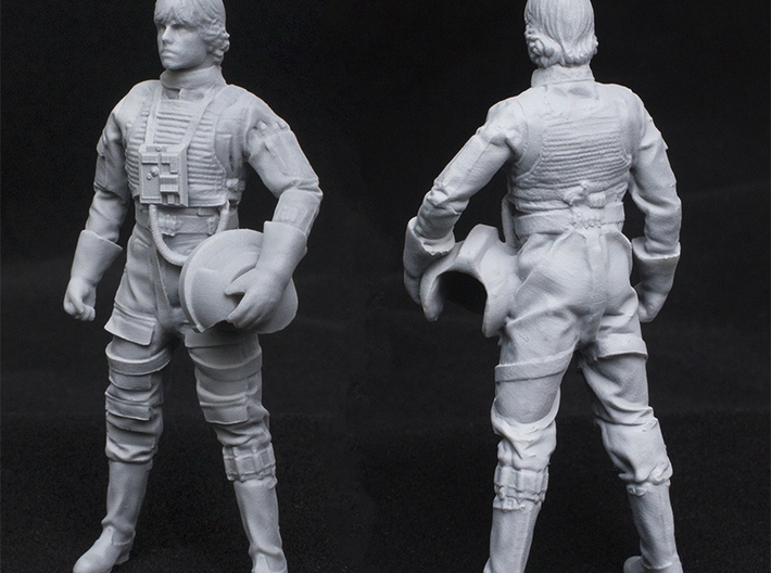 Standing Pilot 1/24 Scale for Studio Scale X-Wing 3d printed