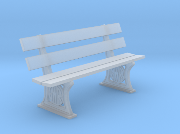GWR Bench 7mm scale 3d printed