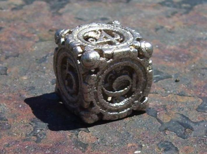 13mm Steampunk D6 3d printed Works great in steel.