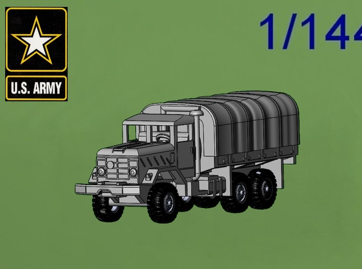 1/144 M923 5t with tarp (finished) 3d printed 1/144 M923 5 ton Cargo Truck with tarp
