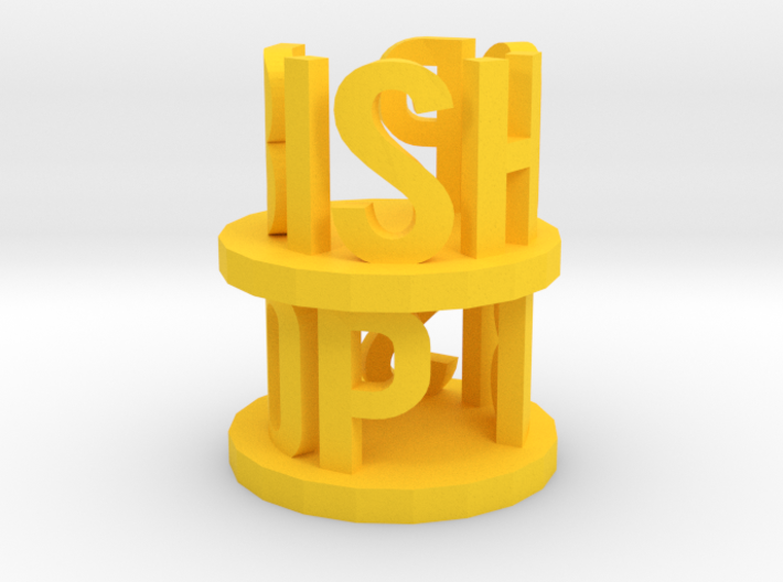 Alpha Bishop 3d printed this is a render not a picture