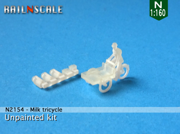 Milk tricycle (N 1:160) 3d printed