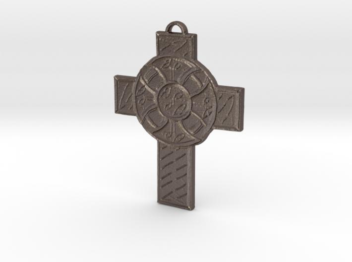 Celtic Cross Shield 3d printed