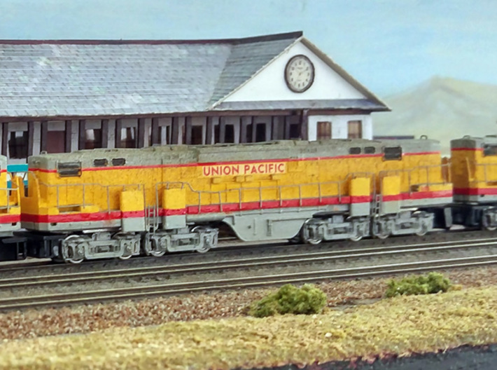 N Scale Alco C-855B Locomotive Shell 3d printed