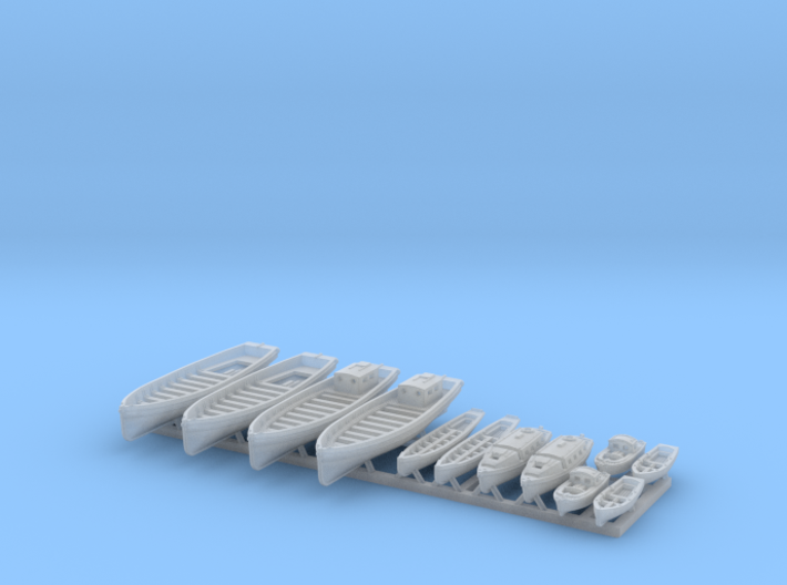 1/700 WW2 RN Boat Set 2 without Mounts 3d printed 1/700 WW2 RN Boat Set 2 without Mounts