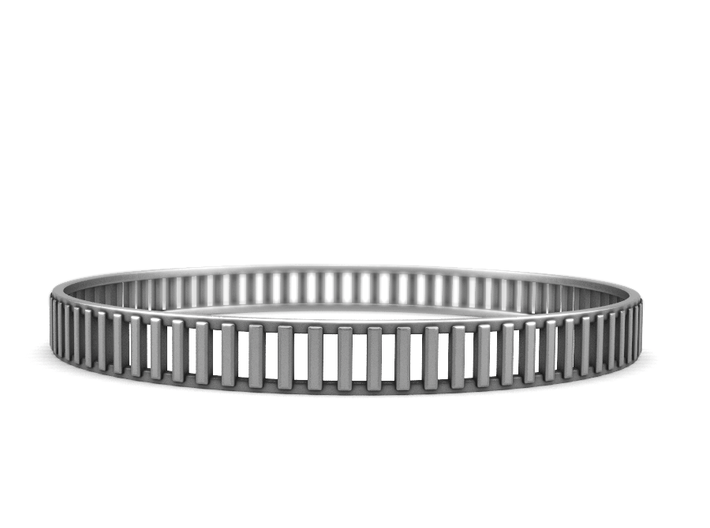 Gates - Sterling Silver Bangle Bracelet 3d printed