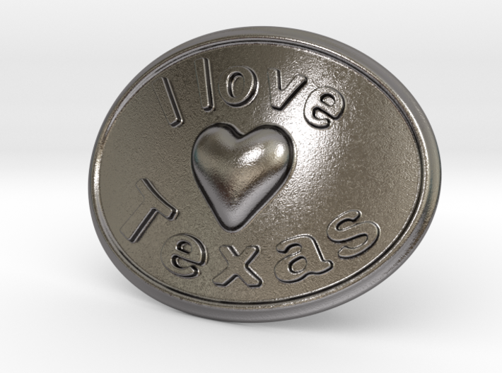 I Love Texas Belt Buckle 3d printed