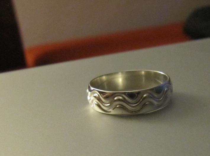 Wave Ring 3d printed