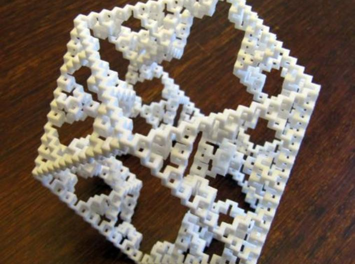 Cuboctahedral fractal graph 3d printed Photo.