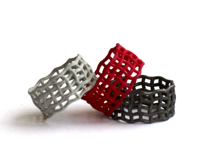 Spider web nested ring 3d printed spider web ring