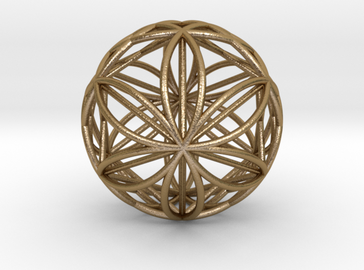 """Double Hexasphere w/nested Hexahedron 2.2"""" (nb) 3d printed"""