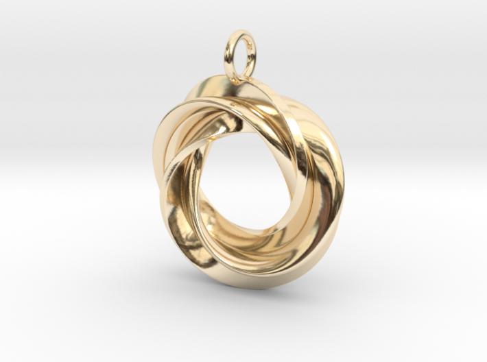 Roebius pendant with loop 3d printed