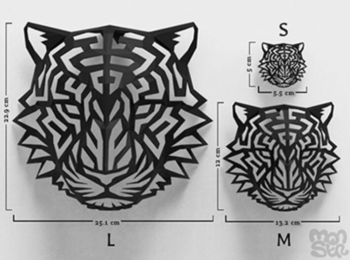 Modern Faux Taxidermy - Tiger Head (M) 3d printed
