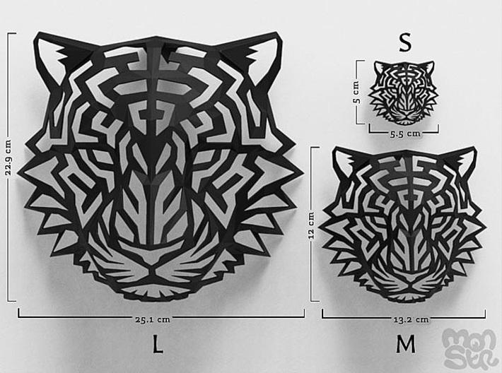 Modern Faux Taxidermy - Jaguar Head (L) 3d printed