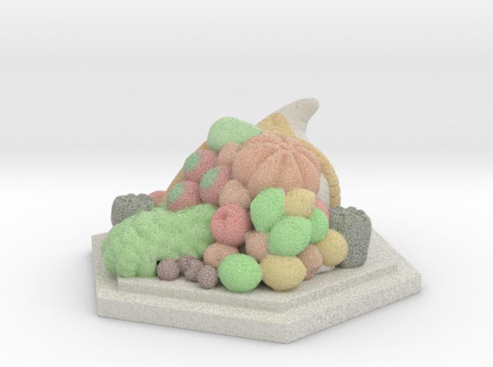 Fruit Cornucopia Miniature   3d printed