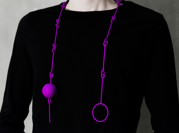 """Melancholy"" necklace SMK contest 3d printed"