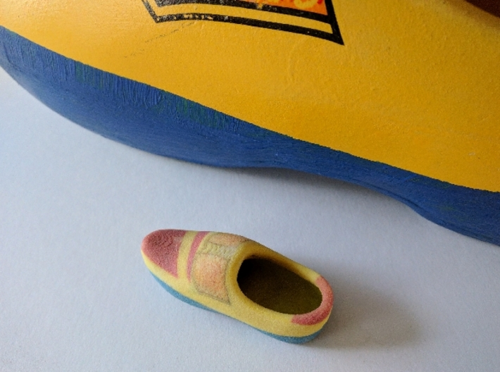 Just a Wooden Shoe 3d printed Size does not matter