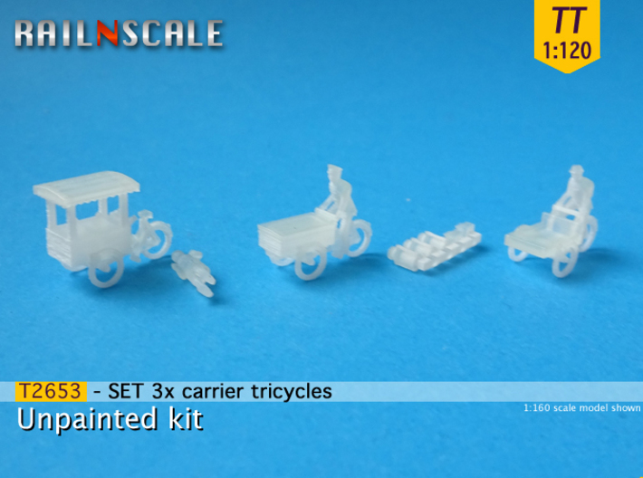 SET 3x Carrier tricycles (TT 1:120) 3d printed