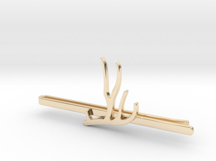 Mule Deer Antler Tie Clip 3d printed
