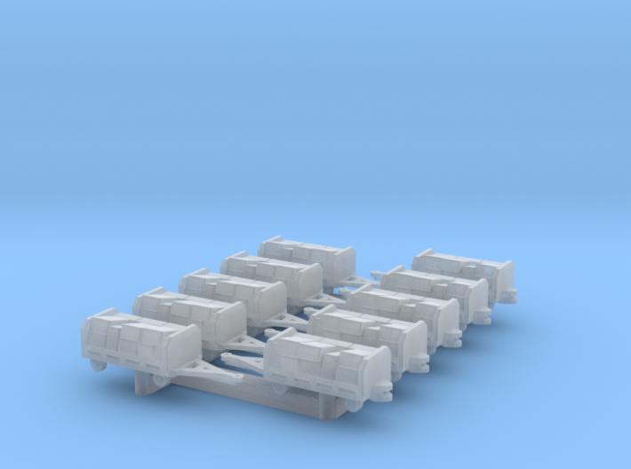 GSE 1:400 10x Baggage Cart (Loaded) 3d printed