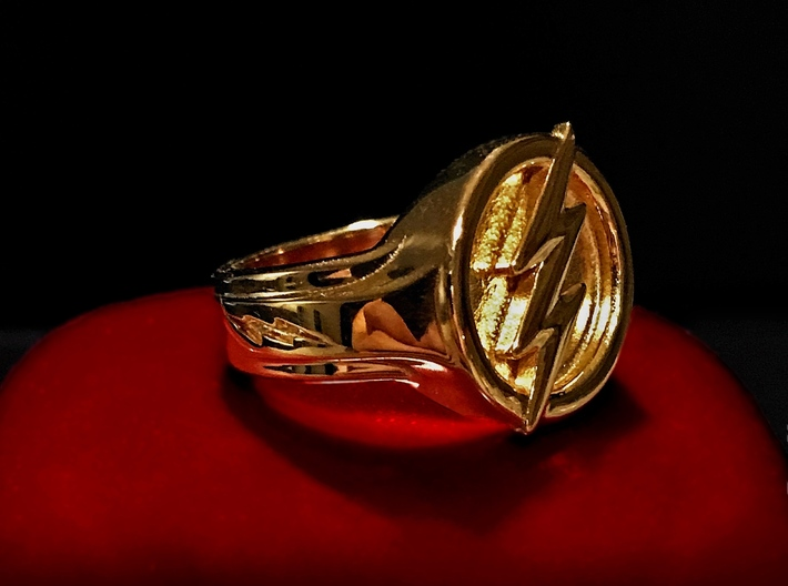 The Flash Ring 3d printed 18k Gold Plated