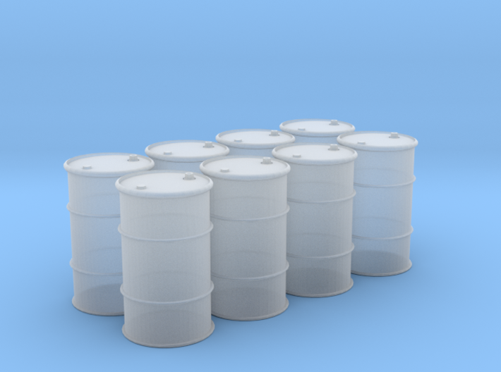 HO 55 Gallon Drum set of 8 3d printed