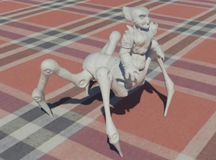 Alien Centaur 3d printed Simulated White Strong & Flexible