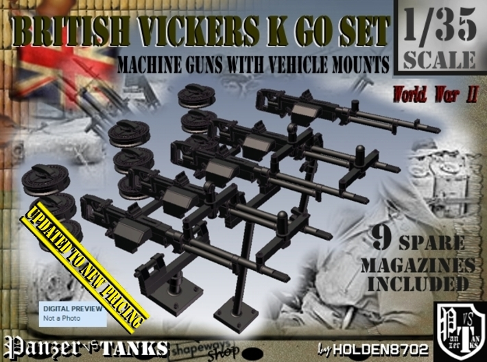 1/35 Vickers K GO Set001 3d printed