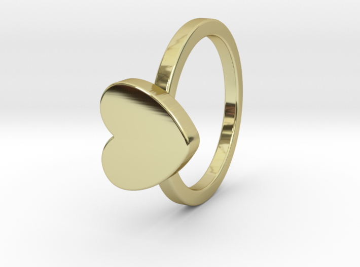 Heart Ring Size 4 3d printed