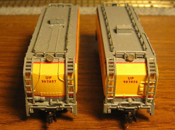 UP Water Tender Pre Rebuild (Ex Turbine) Type 1&2 3d printed Models By Mark Peterson