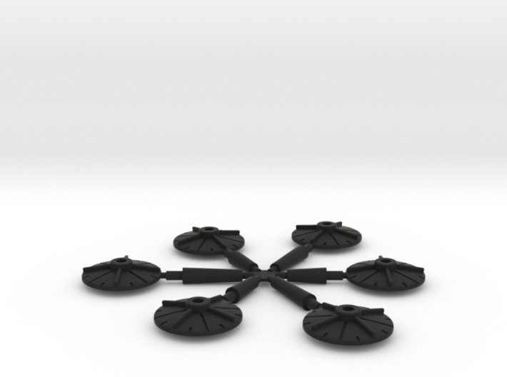 6 Bases for Cruisers and Escort Ships 3d printed