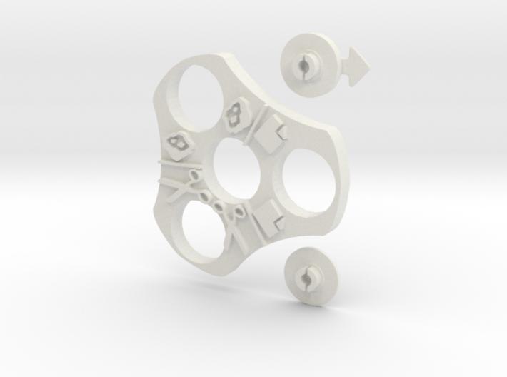 Rock, Paper, Scissor, SPIN!  3d printed