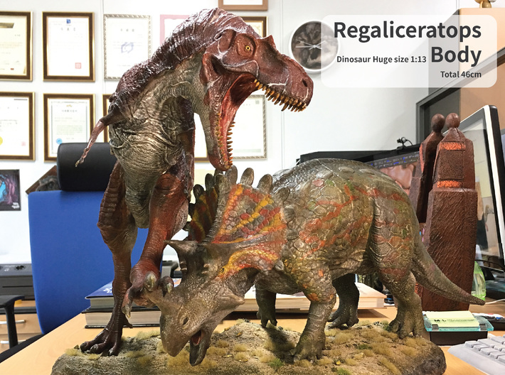 Regaliceratops Body (Total 46cm / 1:13) 3d printed