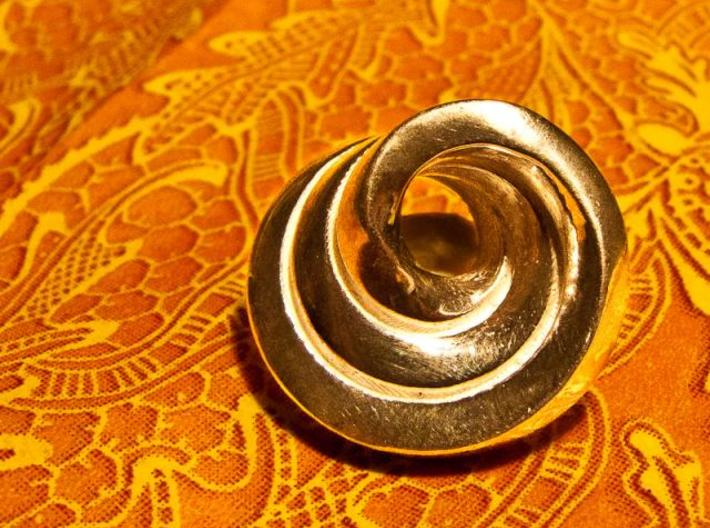 Snail pendant 3d printed Polished Silver