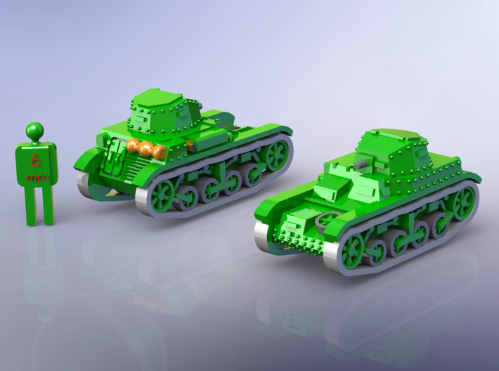 French Renault AMR 33 Light Tank 1/144 3d printed