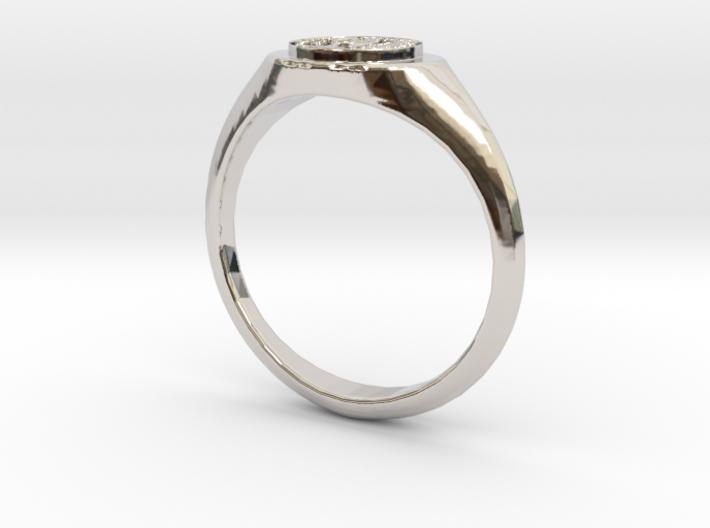 NTUA Female Ring 3d printed