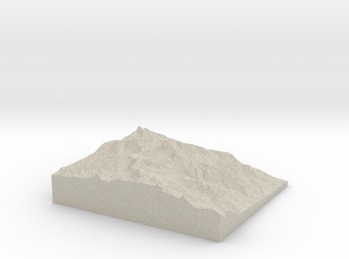 Model of Trojan Peak 3d printed