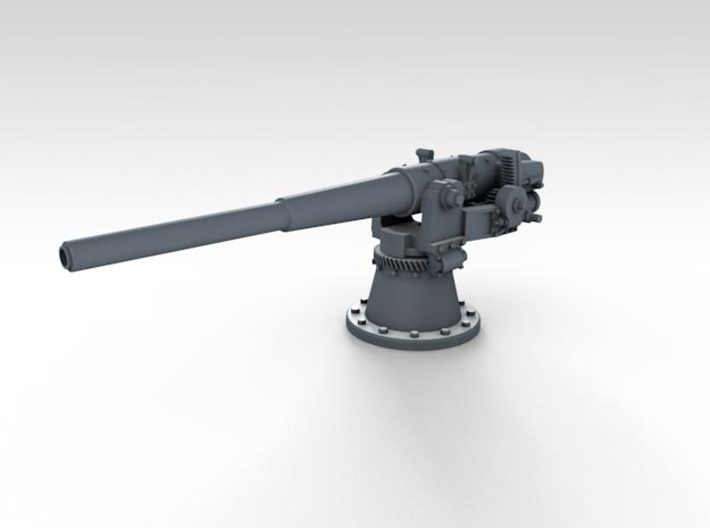 1/350 SMS Emden 10.5cm/40 SK L/40 Guns 3d printed 3d render showing unshielded mount