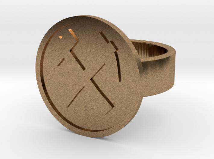 Hammer & Pick Ring 3d printed