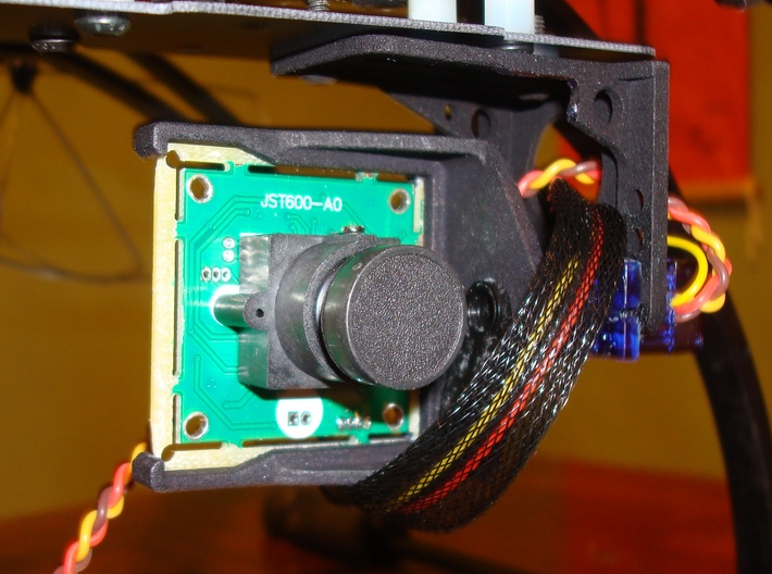 FPV Servo Mount 3d printed Front (note notch required)