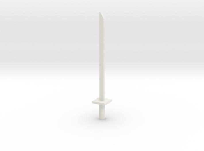 Simple transformers ninja sword 3d printed