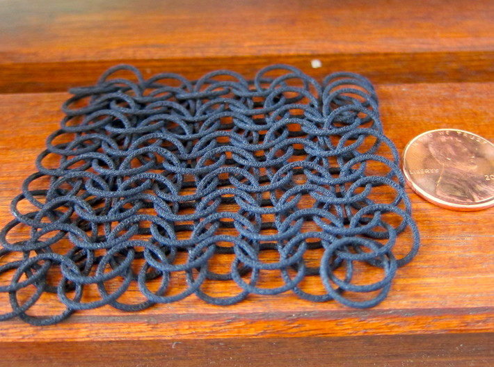 10 X 10 chain mail 3d printed