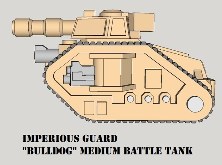 3mm Imperious Guard Battle Tanks (24pcs) 3d printed