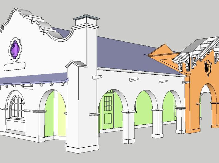 Petaluma Station - East Portals - Part 2 of 5 3d printed